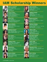 IAM Scholarship Winners 2