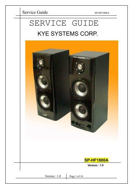 SP-HF1800A Service Guide .pdf - Genius