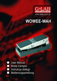 BASS WOWEE-WAH BWW-1 User Manual - G LAB