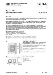 Impulsgever basis-element - Gira