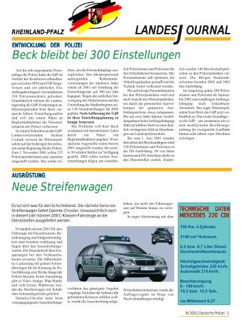 Journal September 2001 - gdp-deutschepolizei.de