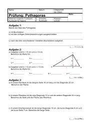 Prüfung: Pythagoras - Gegenschatz.net
