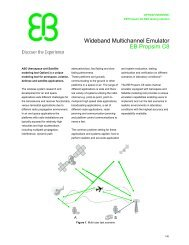 Wideband Multichannel Emulator EB Propsim C8 - Gigacomp