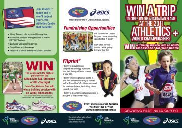 Asics / The Athlete's Foot Promotional Flyer