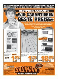 WIR GARANTIEREN »WIR GARANTIEREN - Globus Baumarkt