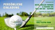 PERSÖNLICHE EINLADUNG - Golfclub Kaiserhöhe
