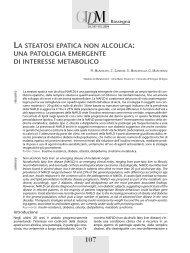 La steatosi epatica non alcolica: una patologia emergente di ...