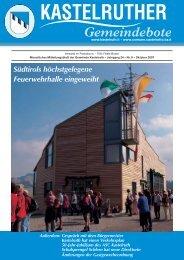 Kastelruther Gemeindebote - Ausgabe Oktober 2007 - Teil 1 (2,2Mb)