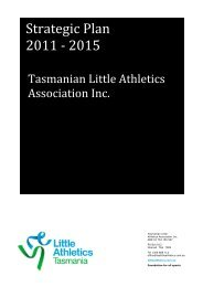 to view the 2011 TLAA Strategic Plan - Evans Head Hockey Club