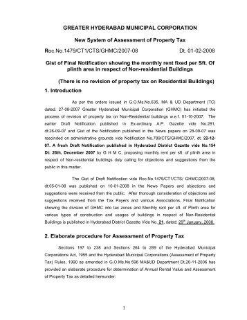 hyderabad district gazette copy - Greater Hyderabad Municipal ...