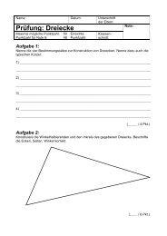 Prüfung: Dreiecke - Gegenschatz.net