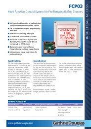 Tubular Motors Datasheet - Guthrie Douglas