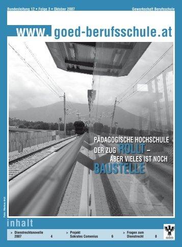 DienStreChtSnOvelle 2007 - Bundessektion 12 Berufsschullehrer