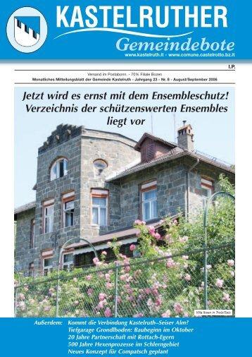 Kastelruther Gemeindebote - August/September 2006 (1,5 Mb