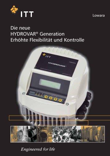 Die neue HYDROVAR® Generation Erhöhte Flexibilität ... - Lowara