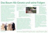 Das Baum-Ab-Gesetz und seine Folgen - Gisela Kallenbach