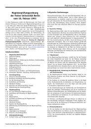 Magisterprüfungsordnung - Fachbereich Geschichts