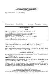 Rundschreiben 1 / 2004 1. Fachtagung ... - GKinD