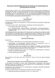 Vergnügungssteuersatzung - Gemeinde Röderland