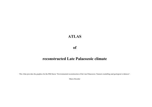 ATLAS of reconstructed Late Palaeozoic climate