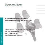 Patientenbeteiligung und Selbsthilfe - Gesundheitsbeirat-muenchen ...
