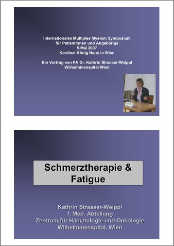 Schmerztherapie & Fatigue