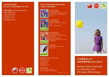 Fachtag Sichere Gemeinde 26. November 2011 EFG Kassel ...