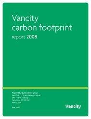 Vancity carbon footprint - CSA's GHG Registries