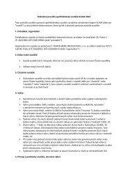 Podrobná pravidla spotřebitelské soutěže KLASA 2012 ... - Globus