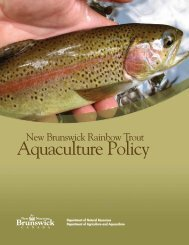 c) New Brunswick Rainbow Trout Aquaculture Policy