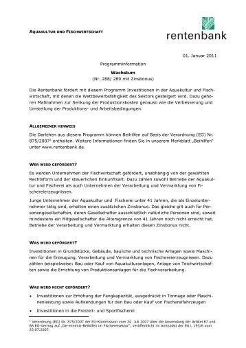 01. Januar 2011 Programminformation Wachstum (Nr ... - GENO-Star