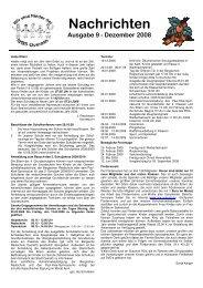 Nachrichten Ausgabe 9 - Dezember 2008 - GGS-Overath