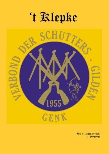 t Klepke nr. 4 oktober 1995 - Verbond der Schuttersgilden Genk