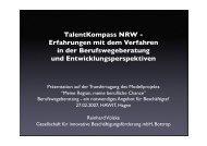 TalentKompass NRW - Erfahrungen mit dem ... - Strukturnetz