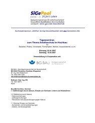 Tagesseminar, zum Thema Arbeitsschutz im Hochbau - Gesunde ...