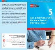 Aus- & Weiterbildung, Urlaub & Freizeit, Kultur & Service - FSG