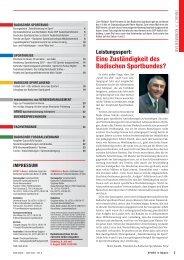 Sport in Baden Nr. 06/2008 - Badischer Sportbund Nord ev