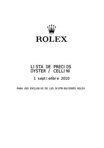 Rolex Price List 2010 (pdf) - GINAULT