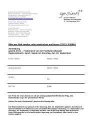 Bitte per Mail senden, oder ausdrucken und faxen ... - gesinA Albstadt