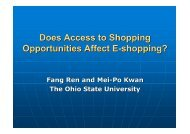 Does Access to Shopping Opportunities Affect E-shopping?