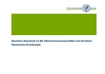 BA-Abschluss - Fachbereich Geschichts