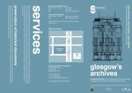Architectural Plans Leaflet - Glasgow Life