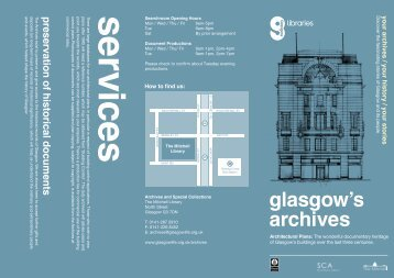 Architectural Plans Leaflet - Glasgow Life