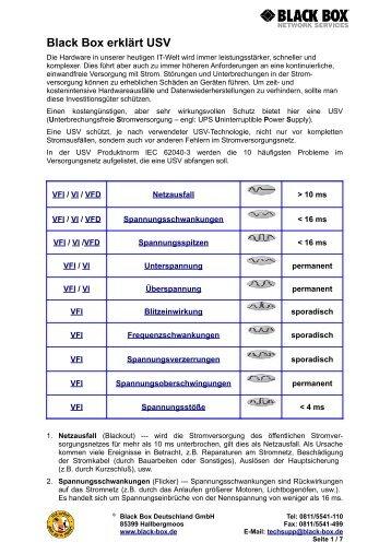Black Box erklärt USV - Black Box Deutschland Gmbh