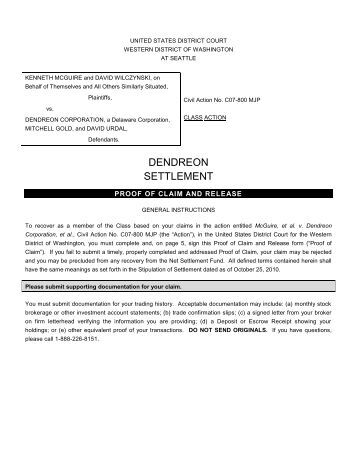 Proof Of Claim And Release Form - Gilardi & Co, Llc
