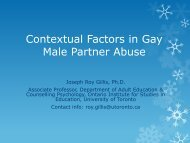 Contextual Factors in Gay Male Partner Abuse - GMSH