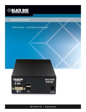 Black Box erklärt zukünftige Kvm-Extender Technologien