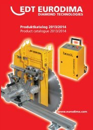 Produktkatalog 2013/2014 Product catalogue ... - EDT EURODIMA