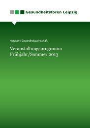 Veranstaltungsprogramm Frühjahr/Sommer 2013