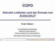 COPD Aktuelle Leitlinien und der Einsatz von Antibiotika?